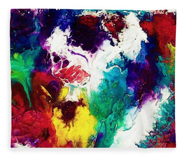 Abstract Colors  In Watercolors Fleece Blanket