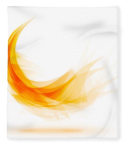 Abstract Feather Fleece Blanket