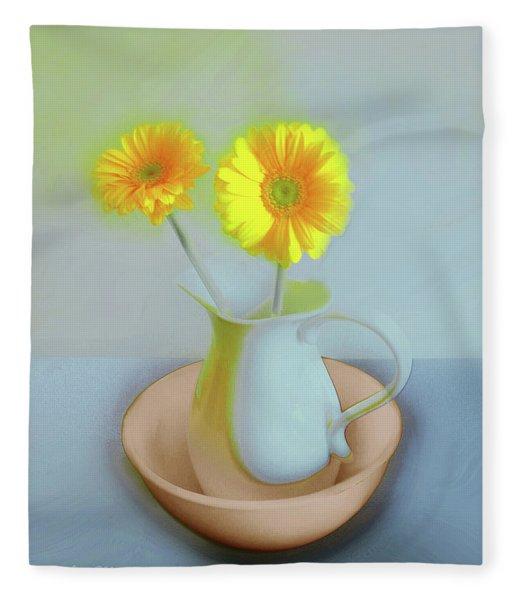 Abstract Floral Art 302 Fleece Blanket