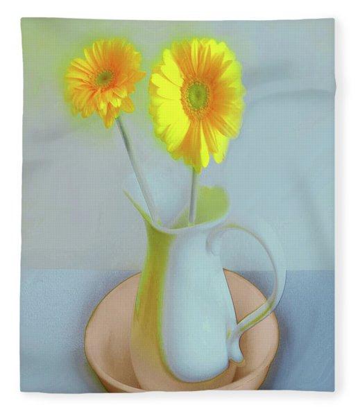 Abstract Floral Art 304 Fleece Blanket