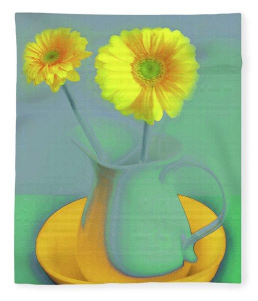 Abstract Floral Art 307 Fleece Blanket