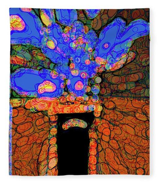 Abstract Floral Art 77 Fleece Blanket