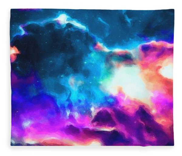 Abstract Galaxy Series No 4 Fleece Blanket