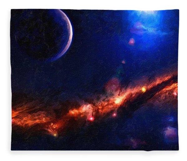 Abstract Galaxy Series No 7 Fleece Blanket