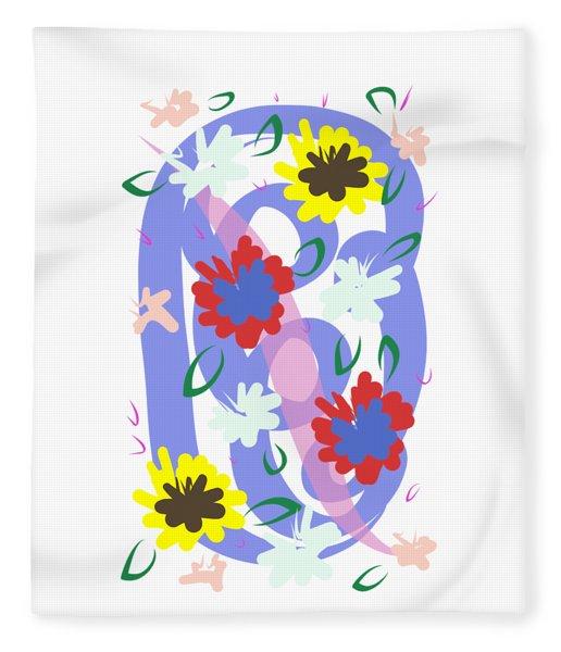 Fleece Blanket featuring the digital art Abstract Garden #1 by Bee-Bee Deigner