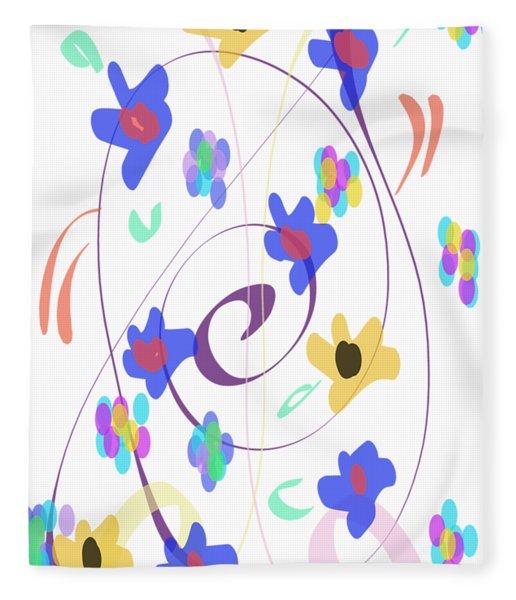 Fleece Blanket featuring the digital art Abstract Garden Nr 7 Naif Style by Bee-Bee Deigner