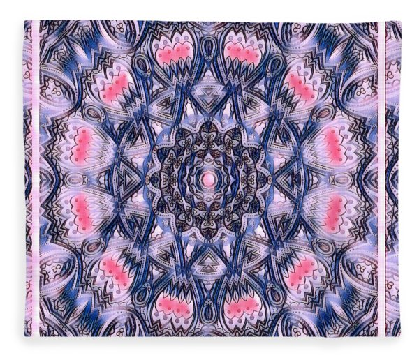Abstract Mandala Pattern Fleece Blanket