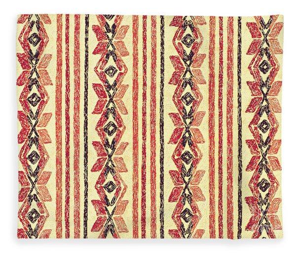 Abstract Stripes Pattern Fleece Blanket