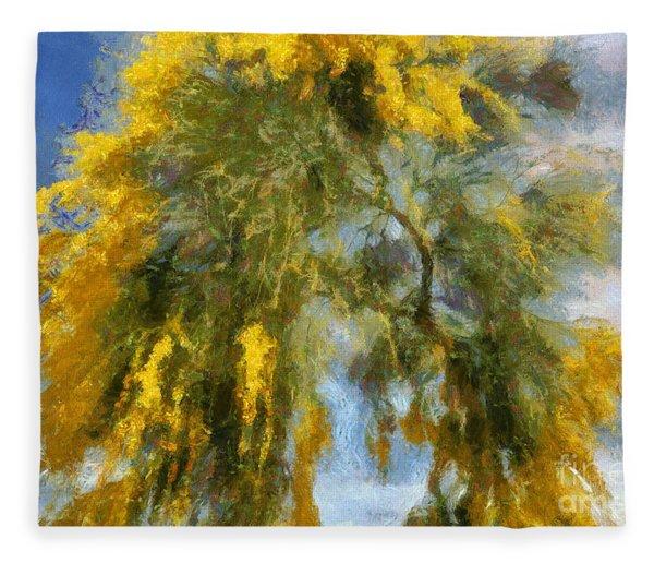 Acacia Tree Fleece Blanket