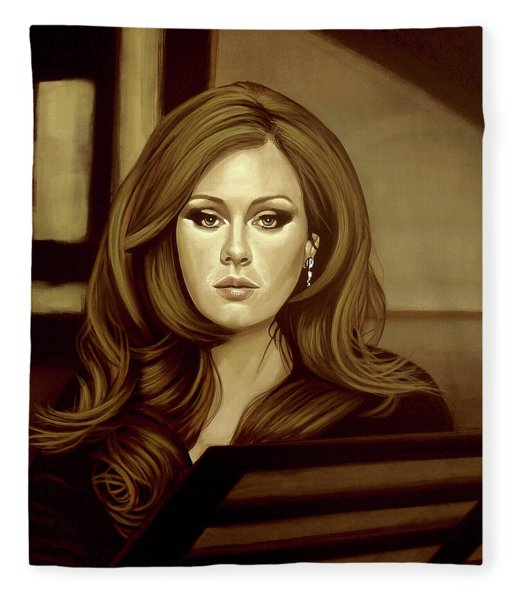 Adele Gold Fleece Blanket