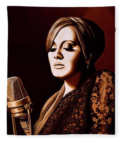 Adele Skyfall Gold Fleece Blanket