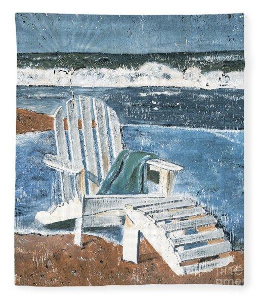 Adirondack Chair Fleece Blanket