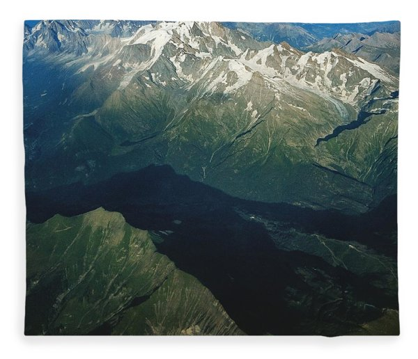 Aerial Photograph Of The Swiss Alps Fleece Blanket
