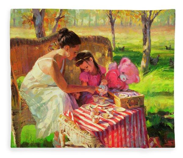 Afternoon Tea Party Fleece Blanket