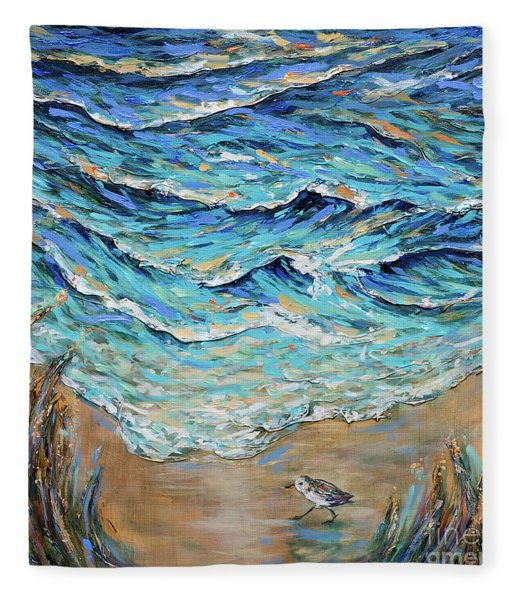 Afternoon Tide Fleece Blanket