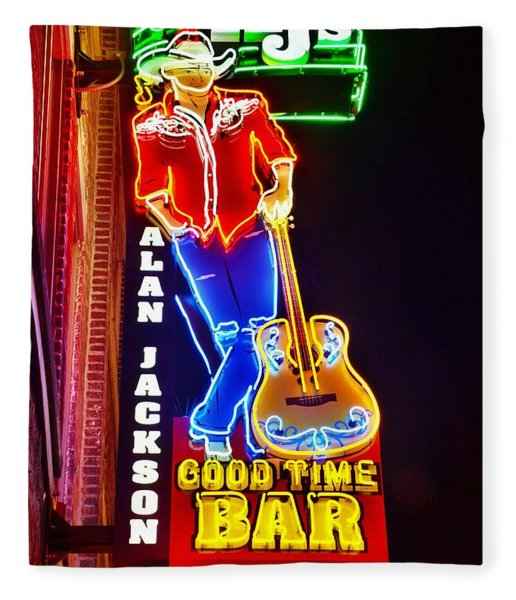 Aj's Good Time Bar Fleece Blanket