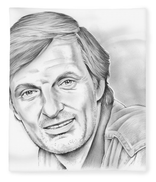 Alan Alda Fleece Blanket