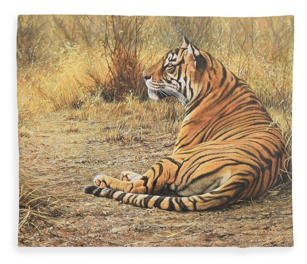 Fleece Blanket featuring the photograph Alarm Call by Alan M Hunt