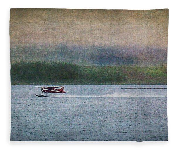 Alaskan Floatplane Fleece Blanket