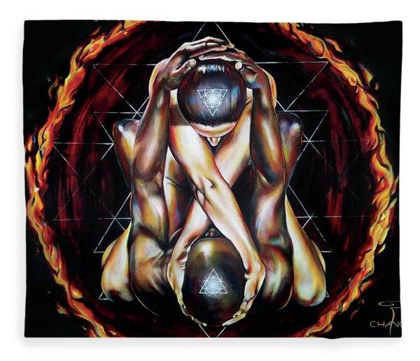 Alchemical Marriage Fleece Blanket