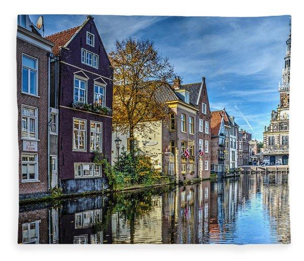 Alkmaar From The Bridge Fleece Blanket