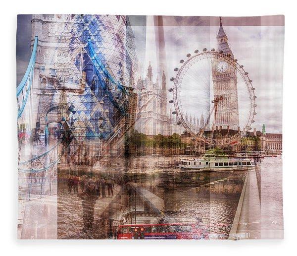 all famous building of London Fleece Blanket