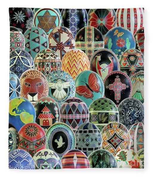 All Ostrich Eggs Collage Fleece Blanket
