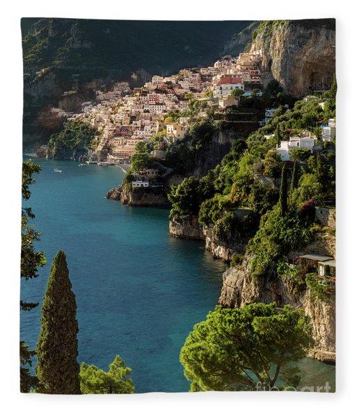 Fleece Blanket featuring the photograph Almalfi Coast by Brian Jannsen
