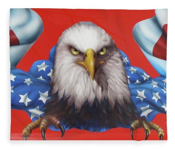 America Patriot  Fleece Blanket