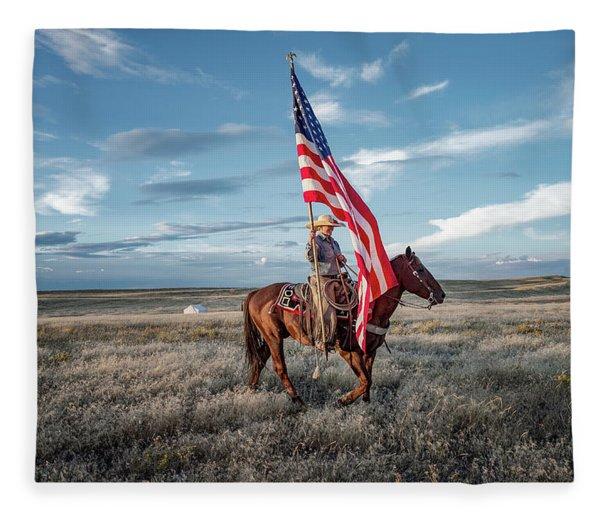 American Cowgirl Fleece Blanket