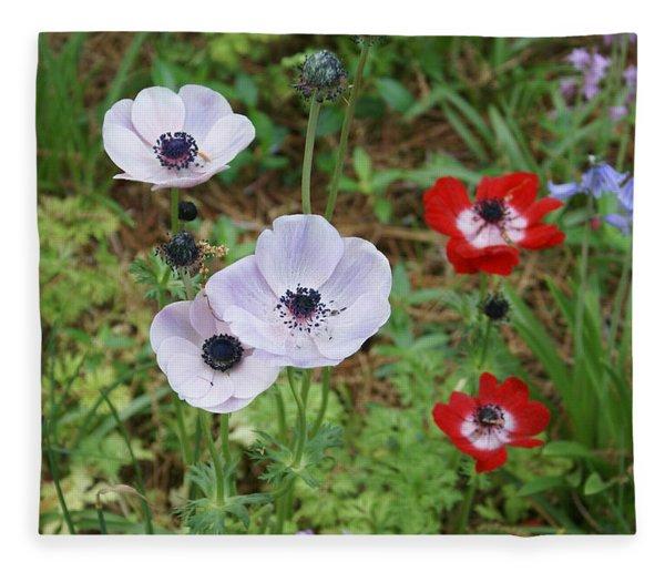 American Flowers Fleece Blanket