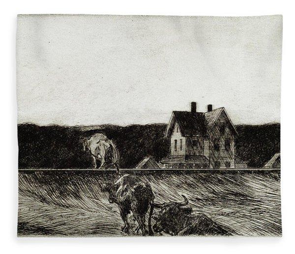 American Landscape Fleece Blanket