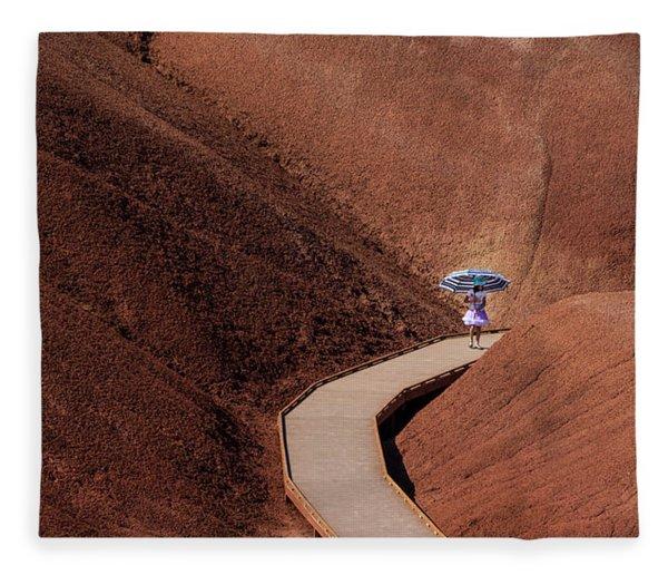 Among The Painted Hills Fleece Blanket