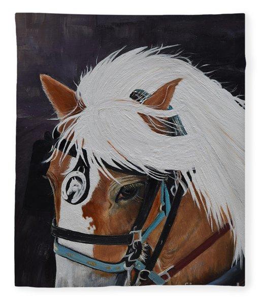 Amos - Haflinger - Horse Fleece Blanket