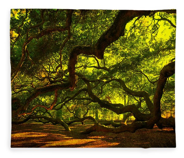 Angel Oak Limbs 2 Fleece Blanket