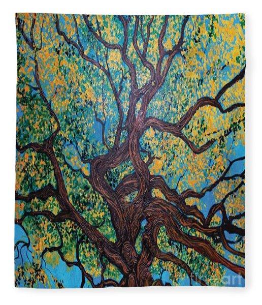 Angel Oak Young Fleece Blanket