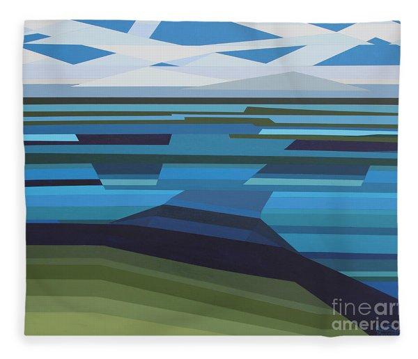 Angular Lake Fleece Blanket