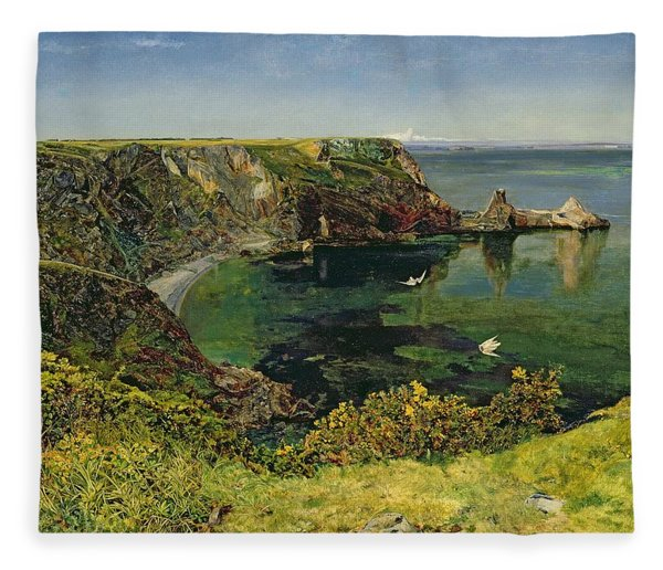 Anstey's Cove In Devon Fleece Blanket