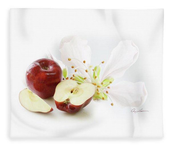 Apples And Blossom Fleece Blanket
