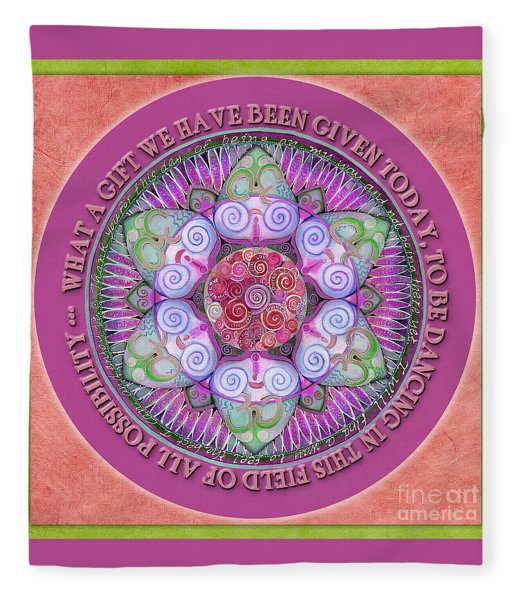 Appreciation Mandala Prayer Fleece Blanket