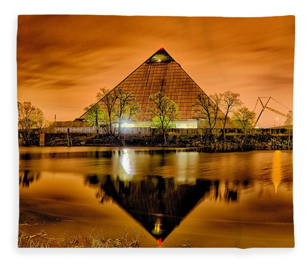April 2015 - The Pyramid Sports Arena In Memphis Tennessee Fleece Blanket