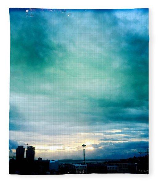 Aqua Needle Fleece Blanket