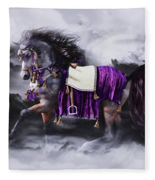 Arabian Horse  Shaitan Fleece Blanket