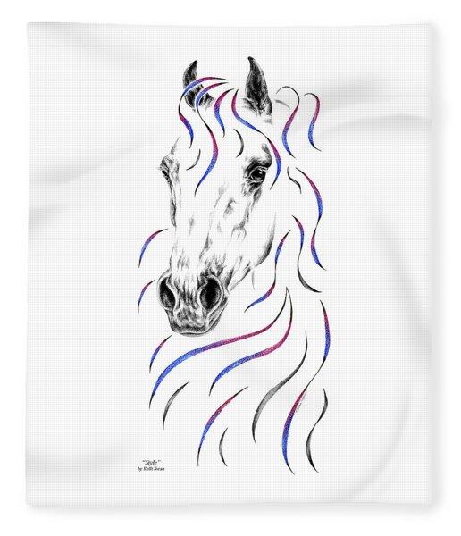 Arabian Horse Style Fleece Blanket