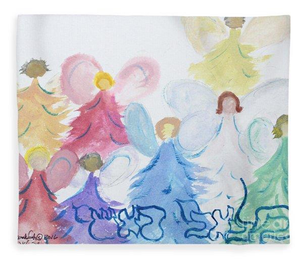 Archangels    Malchei Roshei Fleece Blanket