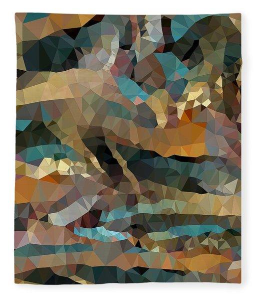 Arizona Triangles Fleece Blanket