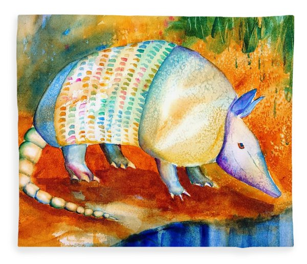 Armadillo Reflections Fleece Blanket