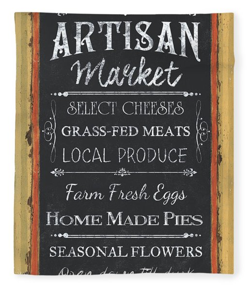Artisan Market Sign Fleece Blanket