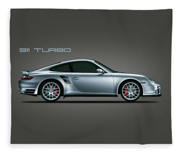Porsche 911 Turbo Fleece Blanket