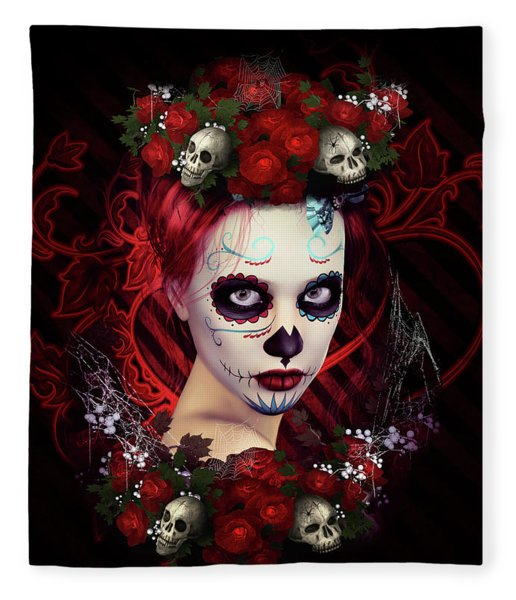 Sugar Doll Red Fleece Blanket